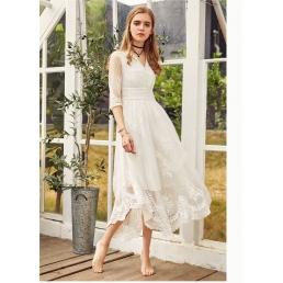 Белое приталенное платье Artka с элементами вышивки