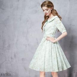 Платье Artka с воротником питер пэн и поясом