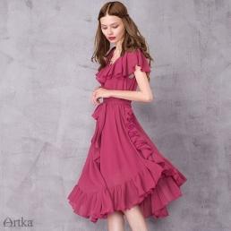 Летящее платье Artka, украшенное оборками