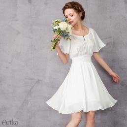 Платье Artka со свободными короткими рукавами и вышивкой на груди