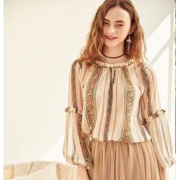 Блузка в стиле прованс от Artka с оборками на рукавах