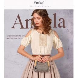 Блузка Artka с вырезами на рукавах