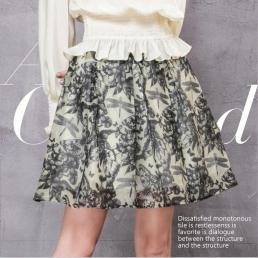 Короткая юбка Artka с рисунком стрекозы
