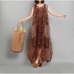 Платье Бернадет (коричневый)