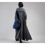 Плащ Madam Boho с накладными карманами (серый)