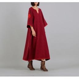 Платье Лия (бордовый)