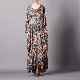Платье Джен (коричневый)