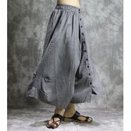 Свободные брюки на пуговицах
