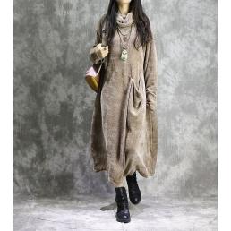 Платье Ава (коричневый)