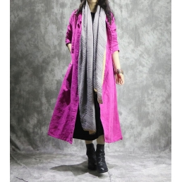 Однотонная льняная накидка (розовый)