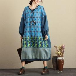Свободное платье с рисунком овал