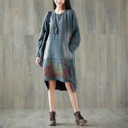 Платье-толстовка с карманом кенгуру (серый)