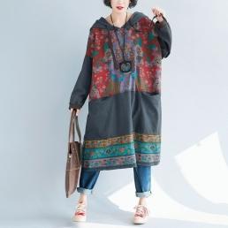 Платье-толстовка с внутренними карманами (серый)