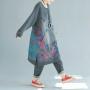 Платье-толстовка кенгуру без капюшона (серый)