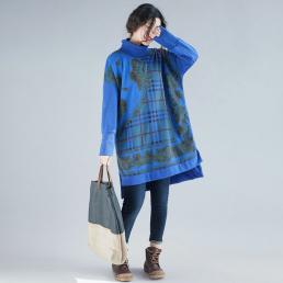 Голубая туника-водолазка
