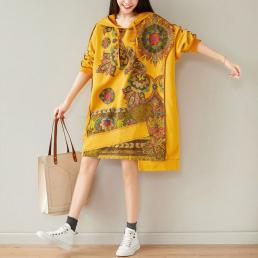 Платье-толстовка Мандала (желтый)
