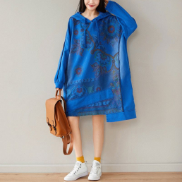 Платье-толстовка Мандала (синий)