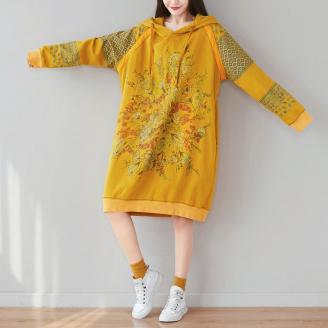 Платье-толстовка Полевые цветы (желтый)