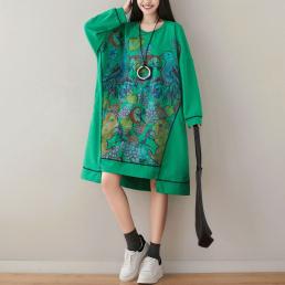 Платье-толстовка без капюшона Изобилие (зеленый)