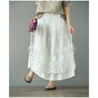 Двухслойная юбка с кружевом (белый)
