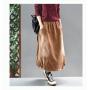 Вельветовая юбка с потертостями (коричневый)