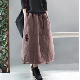 Теплая юбка под жилетку (розовый)
