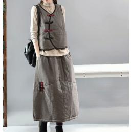 Теплая юбка под жилетку (серый)