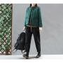 Утепленный пиджак с ажурным декором (зеленый)