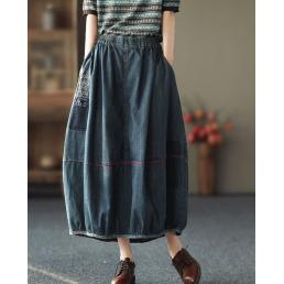 Джисовая юбка на резинке