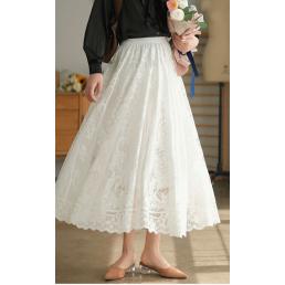 Двуслойная ажурная юбка (белый)