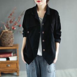 Ассиметричный комбинированный пиджак (черный)